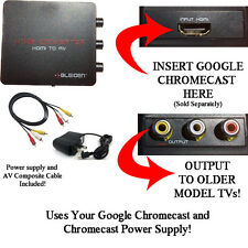 HDMI Converter for Google Chromecast- Convert HDMI to Red/White/Yellow Composite