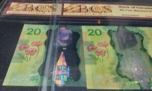 ERROR >BROWN COLOUR SHIFT< LOWER LEFT  2012 Canada $20 CBS certification