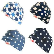 Zippy Baby Bandana Dribble Bib Absorbent 100% Cotton Front BOYS JUST BLUES x 4