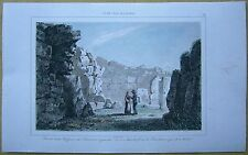 1848 print MALTA: 2ND ENTRANCE, SANCTUARY ON RIGHT, TOWER OF GIANTS, GOZO (#32)