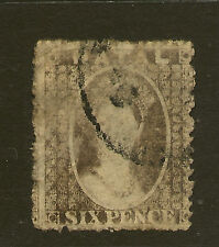 NATAL :1861 6d grey  SG13 used