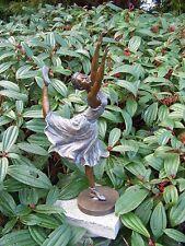 Bronzeskulptur Tänzerin - Ballerina Dekoration für Haus und Garten
