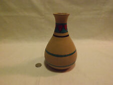 Handmade Pottery Vase with Design. LOOK!