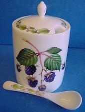 Redwood Bone China Blackberry Jam, conservar o Mermeladas Frasco Pote & Spoon 8533