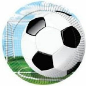Soccer Theme Party Supplies - Plates 8 Pack 23cm - Ideal for World Cup Parties