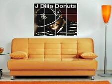 "J DILLA DONUTS 36""X32"" INCH MOSAIC WALL POSTER RAPPER HIP HOP JAY DEE"
