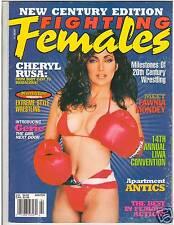 Fighting Females Wrestling Magazine Diva's Cheryl Rusa/ Fawnia Mondey Winter1999