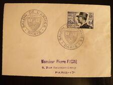 FRANCE PREMIER JOUR FDC YVERT 982  M  DE LATTRE DE TASSIGNY   12F   PARIS   1954