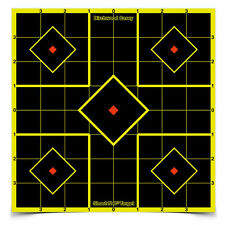 """Birchwood Casey Targets Shoot N C Self Adhesive 6 Sheet 8"""" With 36 Pasters 34105"""