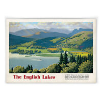 Vintage railway poster - A4 - Lake Windermere Cumbria