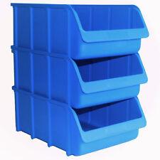 3x Profi Sichtboxen PP Größe 5 blau NEU Stapelbox Sicht-Lagerbox Boxen Sichtbox