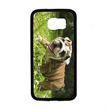 Happy English Bulldog Puppy for Samsung Galaxy S6 i9700 Case Cover By Atomic Mar