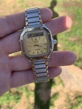 Seiko H357-5049 James Bones STYLE digital Watch SILVER WAVE GOLD