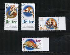 P085  Belize 2004  fauna  WWF Wooly Opossum  4v.  MNH