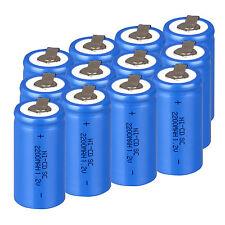 Populaire Bleu 12× Batterie Rechargeable Sub C SC 1.2V 2200mAh Ni-Cd Piles