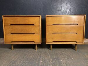 Pair Of Stag C Range Drawers John And Sylvia Reid Mid Century Bedside Cabinet