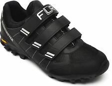 FLR Bushmaster MTB/Trail Shoe in Black/Silver With Fastening - Size 47