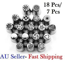 Russian Nozzles Icing Piping Tips Rose Tulip Cupcake Decorating 18/15/12/7 Pcs