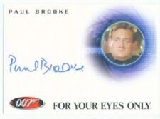 """PAUL BROOKE """"AUTOGRAPH CARD A126"""" JAMES BOND ARCHIVES"""