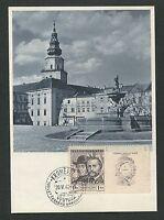 CSSR MK 1948 KROMERIZ MAXIMUMKARTE CARTE MAXIMUM CARD MC CM d4338