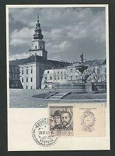 CSSR MK 1948 Kromeriz maximum carta carte MAXIMUM CARD MC cm d4338