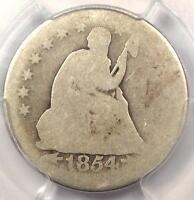"1854-O ""Huge O Variety"" Seated Liberty Quarter 25C. PCGS FR2 (Fair) - $500 Value"