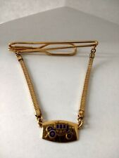 ~ Gold Tone Vintage Carriage Tie Chain