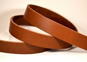Medium Brown Latigo Leather (8-10oz Belt Wght) Strip Strap Blank LeatherRush MLH