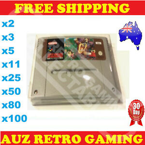 Thick GAME CARTRIDGE PROTECTORS Cases SNES Super Nintendo Games