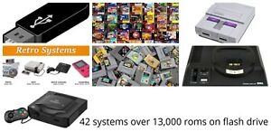 collection ultimate 42 systems 13,000 games usb