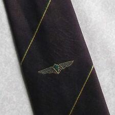 Rotterdam Aero Club Cravatta Vintage con motivo 1980s Borgogna Crest