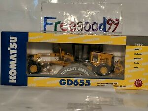 1:50 FIRST GEAR KOMATSU GD655 Motor Grader Ref.50-3062