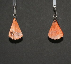 Native American Coral Earrings by Charmayne Nelson, Navajo Quantity Discount