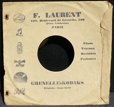 Pochette sleeve Adixe 78 trs 10'' F.Laurent, Bd de Grenelle Paris VG++