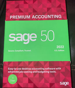 Sage 50 2022 Premium Accounting 1 User (not A Subscription)