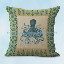 US SELLER, beach nautical octopus cushion cover cheap throw cushions