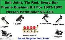 Tie Rod End, Ball Joint, Idler Arm, Stabilizer Link Kit for 93-95 Nissan Pathfin