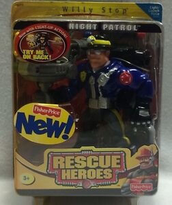 Fisher Price Rescue Heroes Willy Stop Night Patrol Light Up Action Figure 2001