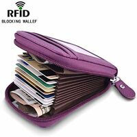 Small Credit Card Wallet Genuine Leather Holder RFID Case Women Purse Organizer