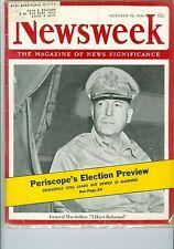 NEWSWEEK   GENERAL MACARTHUR  OCTOBER 30  1944