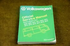 1968-1979 Volkswagen Official Service Manual VW BUS Micro Bus Vanagon Air-cooled