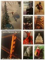 Vintage Piedmont Airlines Poster Print Denver San Francisco Dallas DC & Others