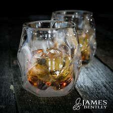 James Bentley Double Wall Whisky Glass+FREE Sphere Ice Molds whiskey glass set