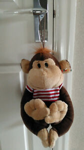 GIFTWORKS LTD HANGING MONKEY SOFT TOY - NEW WITH TAG -