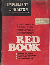 Old Vintage 1968 Manual Implement & Tractor 52nd Annual Farm Industrial Red Book
