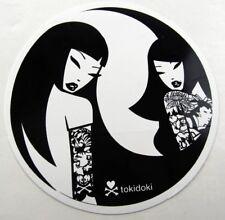 """TOKIDOKI Sticker round - TOKIDOKI GIRL REFLECTION - approx 3.75"""", Yin & Yang"""
