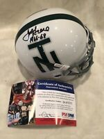 Joe Greene North Texas Signed Football Mini Helmet PSA/DNA Steelers Legend HOF