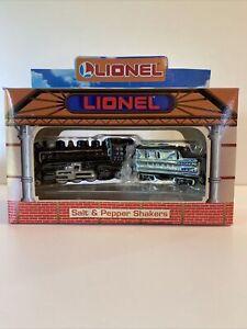 Lionel Enesco 773 Train Salt and Pepper Shakers Set Arrival Departure With COA