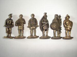 METAL FIGURINES SET - ROMANS SOLDIERS BRASS 35MM VINTAGE - KINDER SURPRISE