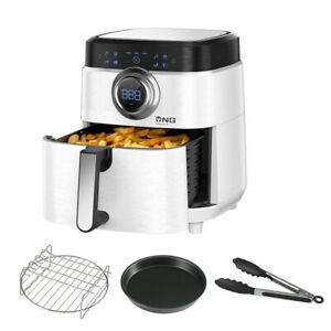 Air Fryer 1700W 7 QT Electric Deep Fryers Oven Oil-less Cooker Counter-top White